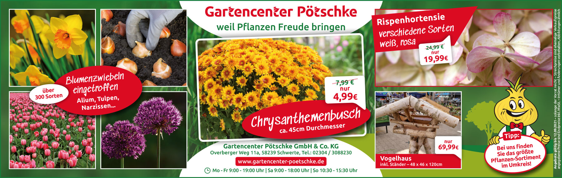 aktuelle Angebote Gartencenter Pötschke